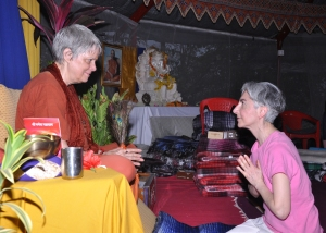 Jyoti with Swamiji