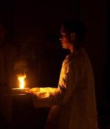 camphor flame arati