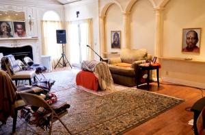 Ashram meditation hall 3