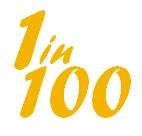 1 in 100